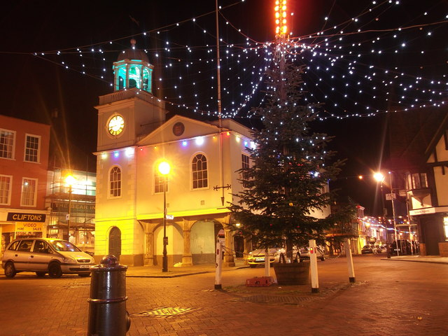 Night view of Faversham Guild Hall