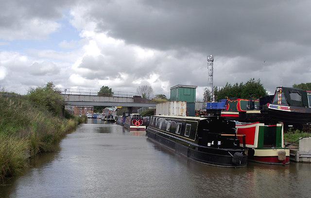 Canal boatyard near Lostock Gralam, Cheshire