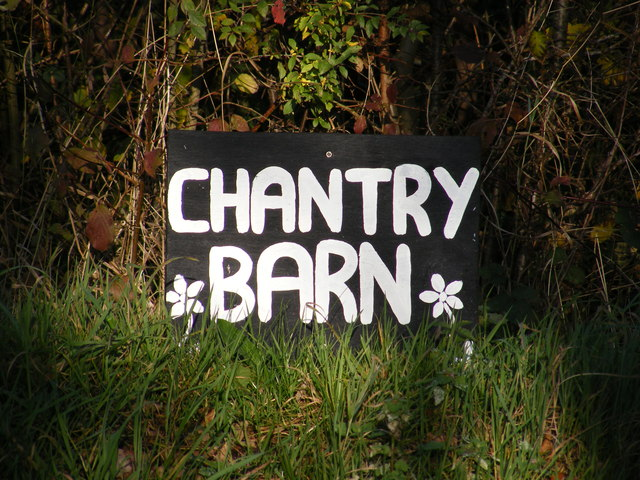 Chantry Barn sign