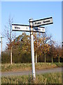 TM2571 : Roadsign on Wilby Lane by Adrian Cable