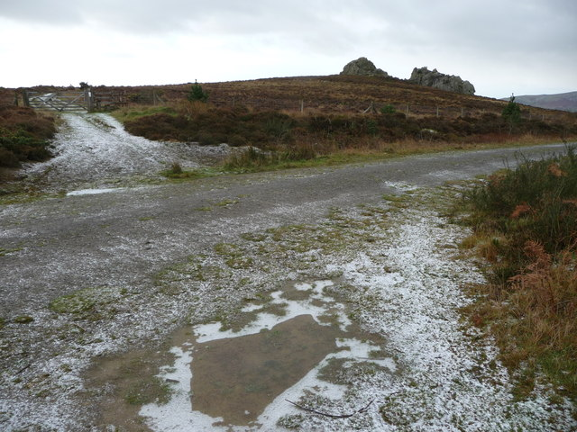 Winter comes to the Stiperstones ridge