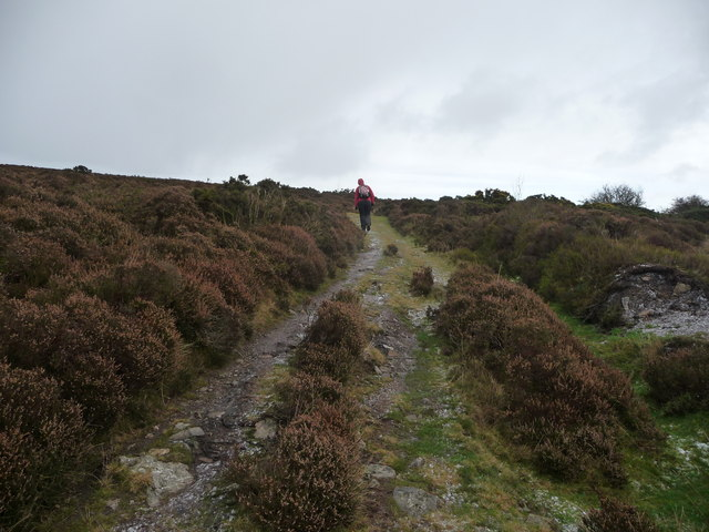 Footpath up to the Stiperstones ridge