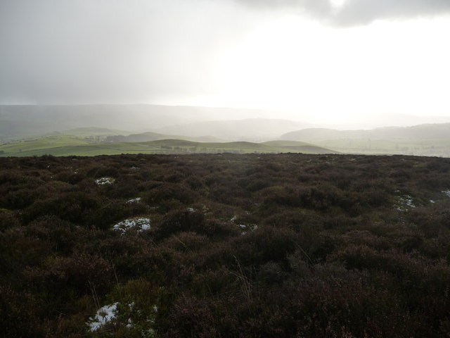 Winter view to the Long Mynd from the Stiperstones ridge
