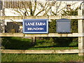 TM2671 : Lane Farm, Brundish sign by Adrian Cable