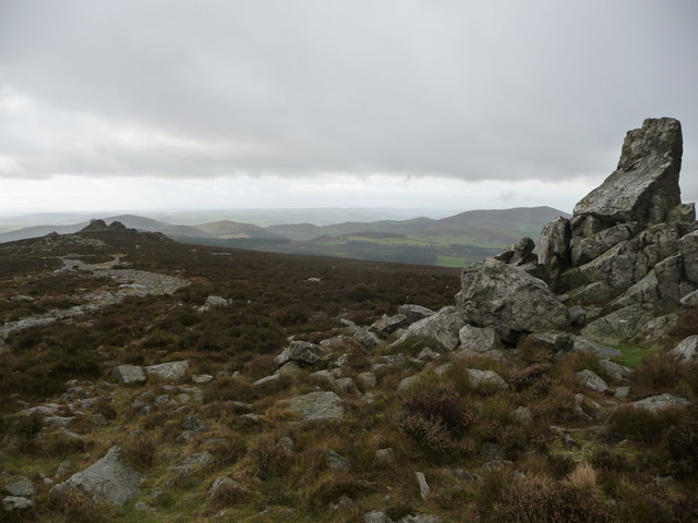 Rocks on the Stiperstones ridge in winter
