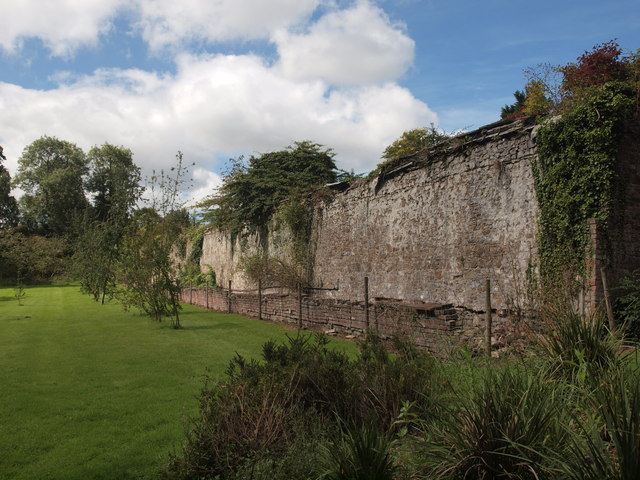 Inside the walled garden at Picton Castle