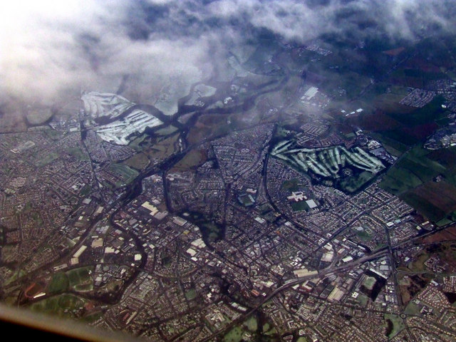 Kilmarnock from the air