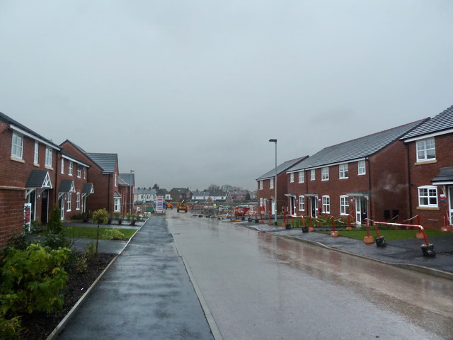 New houses on the site of the old Senior Service Factory