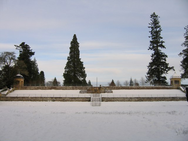 Italian Gardens in the snow