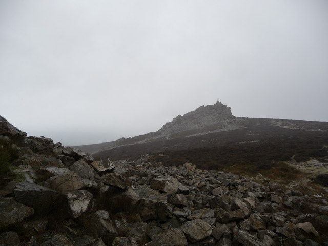 The high point of the Stiperstones in December