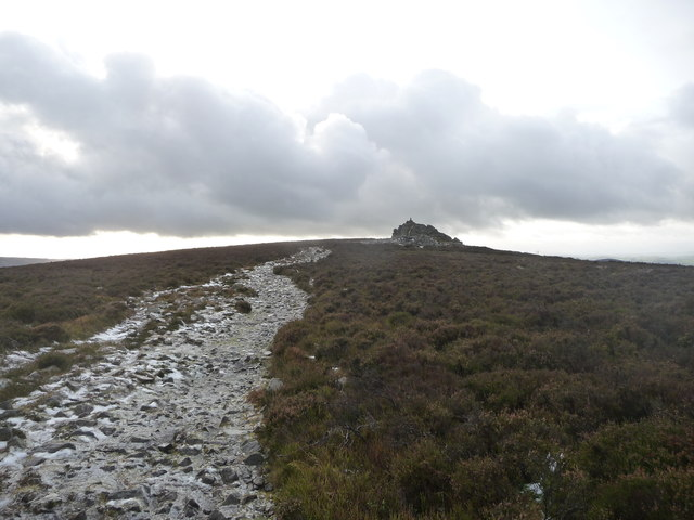 Manstone Rock on Stiperstones in December