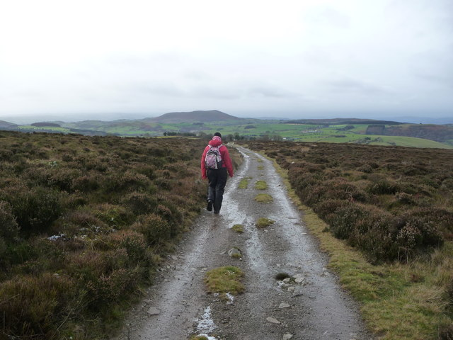 Path off the Stiperstones ridge in winter