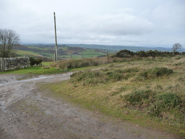 View north-westwards off the Stiperstones ridge