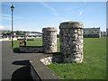 SX9272 : Entrance pillars, King George's Field, Shaldon by Robin Stott