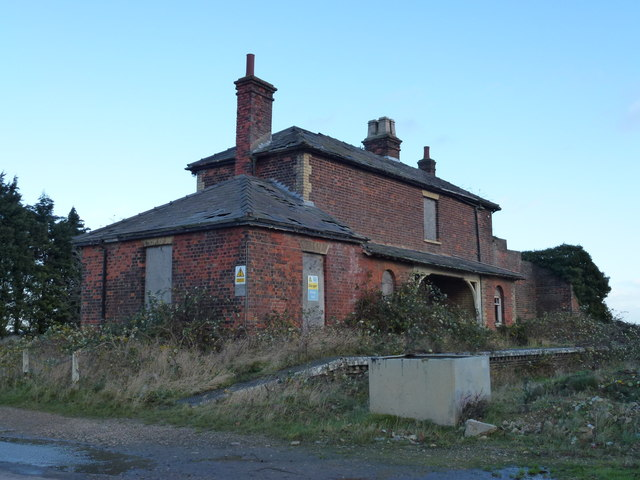 The remains of Gedney station and platform