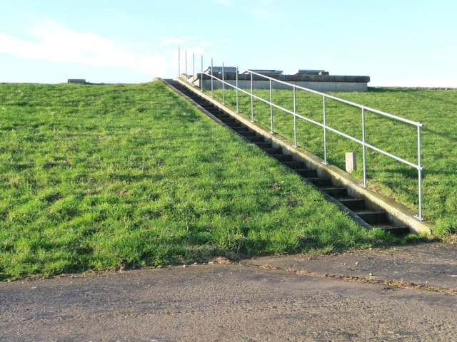 Steps up to Muston service reservoir