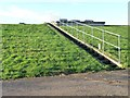 TA0978 : Steps up to Muston service reservoir by Christine Johnstone