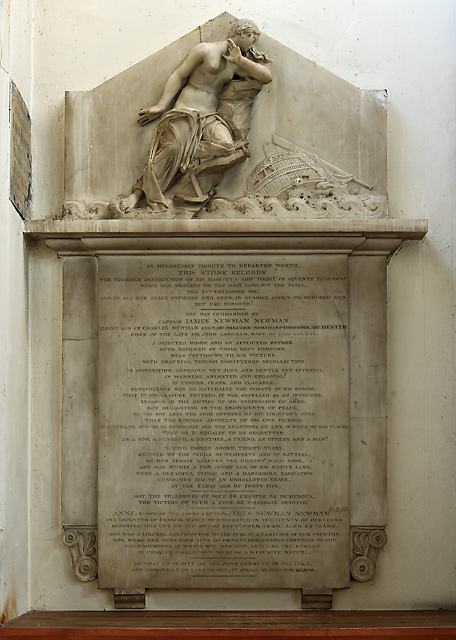 Monument to Captain Newman RN - church of St Peter & St Paul, Fareham