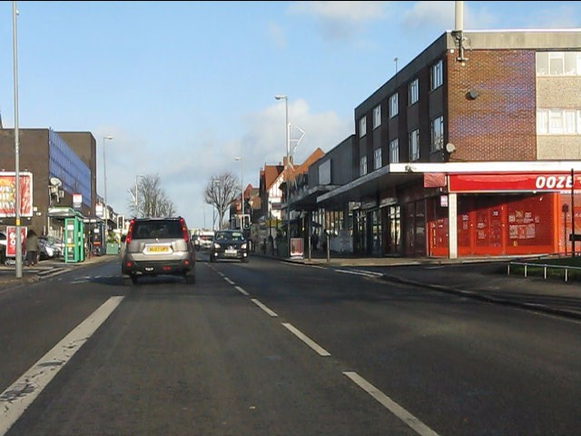 Entry to Kings Heath shopping area