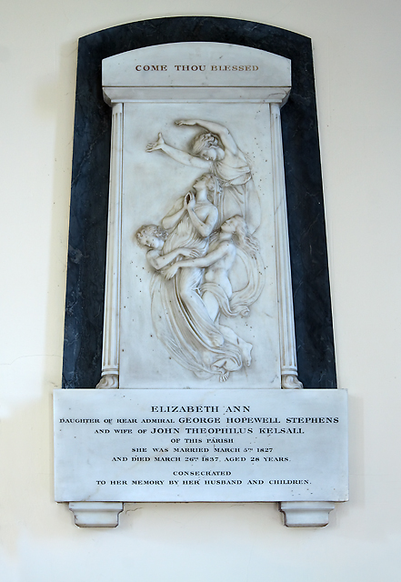 Monument to Elizabeth Kelsall - Holy Trinity church, Fareham