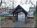 SJ9399 : Christ Church, Ashton-Under-Lyne, Lych gate by Alexander P Kapp
