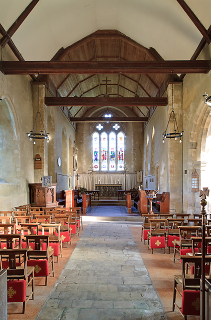 St Michael's church, Chalton (interior)