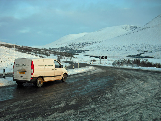 Viewpoint car park in winter