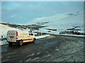 NN3045 : Viewpoint car park in winter by Richard Dorrell