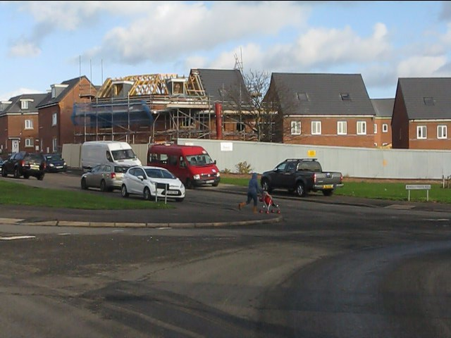 New construction at Garretts Green Lane roundabout