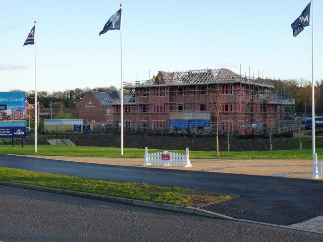 New-build housing at Muxton - Regent's Crescent