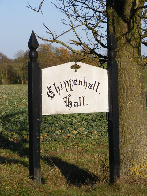 Chippenhall Hall sign