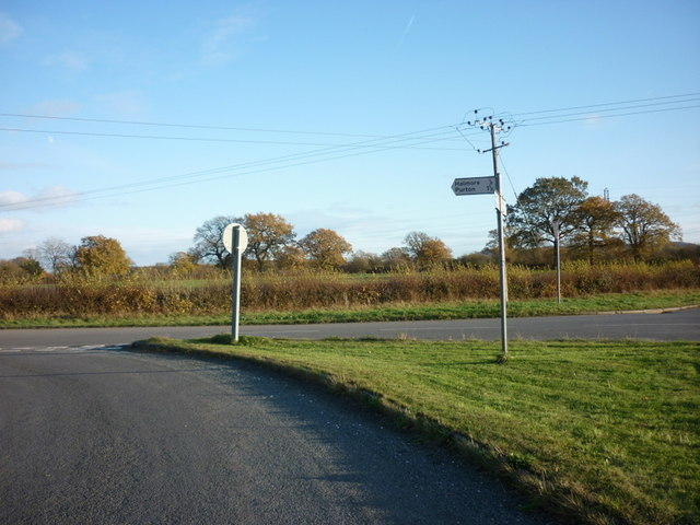 A road junction on Halmore Lane