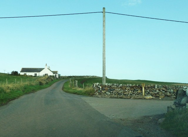 The entrance to the Mull of Galloway farm