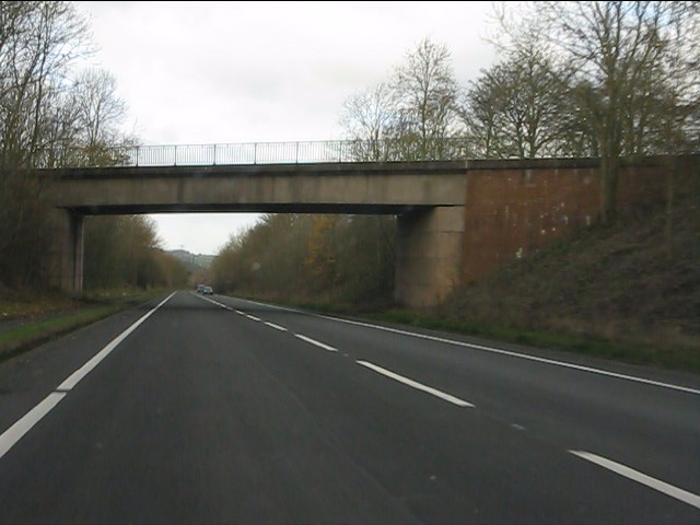 A51 - minor road overbridge near Great Haywood