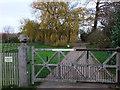 SK9262 : Entrance Gate to Aubourn Hall by PAUL FARMER
