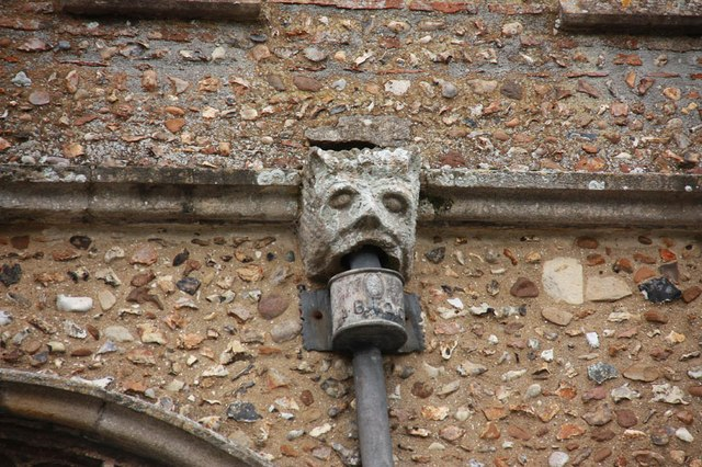 St Mary, Mendlesham - Water spout