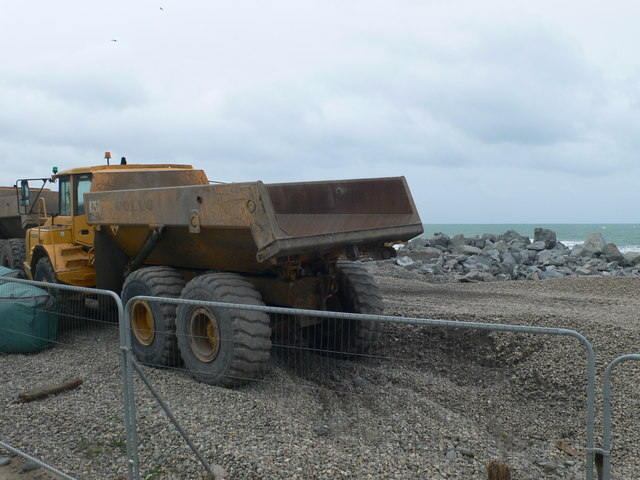 Coastal Defence work at Borth
