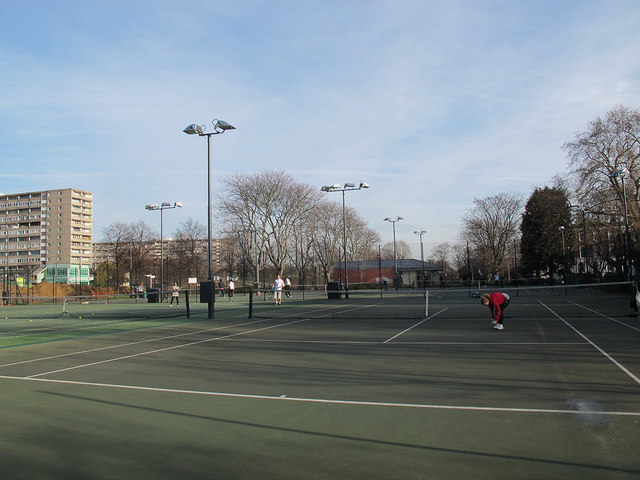 Tennis courts in Burgess Park