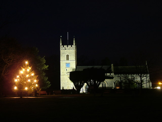 St. Leonard's, Horringer, at Christmas