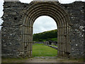 SN7465 : The West Doorway, Strata Florida by Phil Champion
