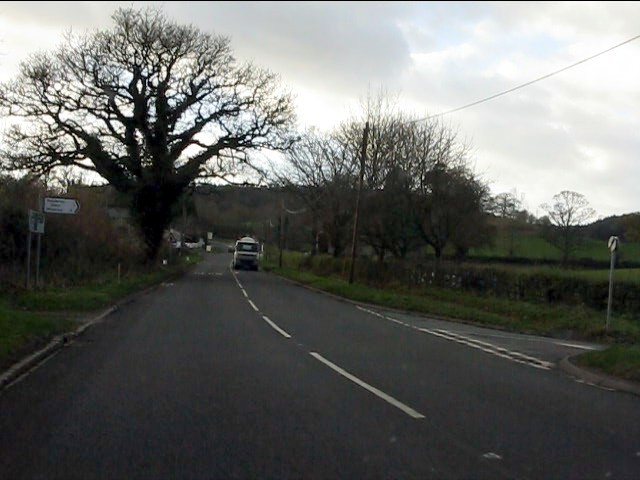 A51 at the principal junction for Madeley