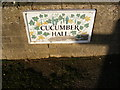 TM2678 : Cucumber Hall sign by Adrian Cable