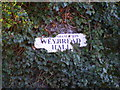 TM2480 : Weybread Hall sign by Adrian Cable