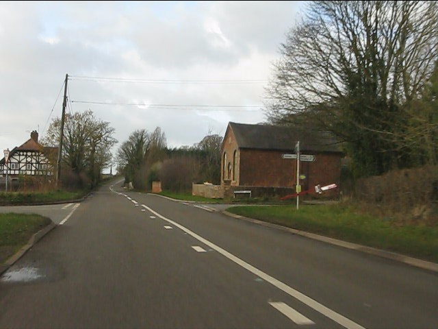 Maerway Lane junction, Blackbrook from the westbound A51