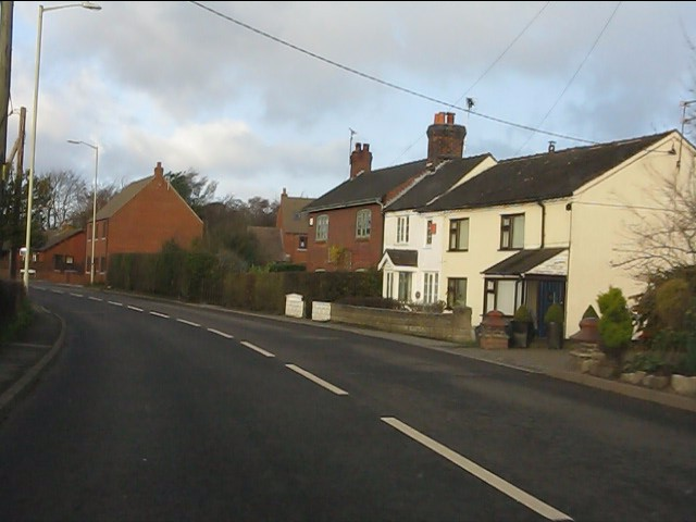 Houses on the southern approach to Woore