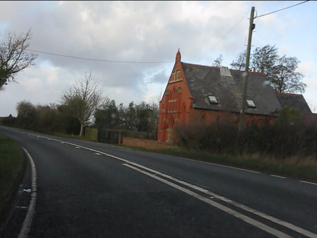 Isolated church by the A51