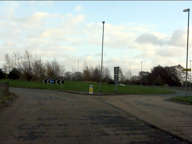 Cheerbrook roundabout from Newcastle Road