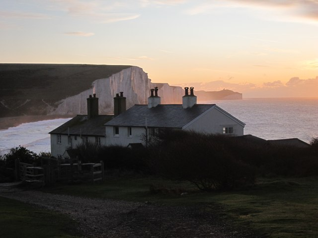 Coastguard Cottages at Sunrise