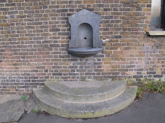 Old drinking fountain in St Alfege Park