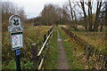 TQ2669 : Morden Hall Park: path alongside the tram line by Christopher Hilton